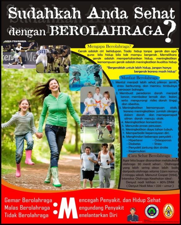 Poster Olahraga Kesehatan Kurniawan S Blog